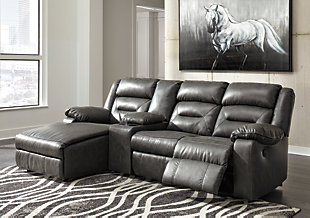 Coahoma 4-Piece Reclining Sectional with Chaise and Power, , rollover