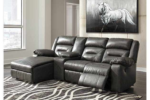 Coahoma 4 Piece Sectional Dark Gray Large