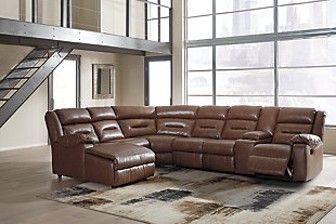 Coahoma 7-Piece Reclining Sectional with Chaise and Power, , rollover
