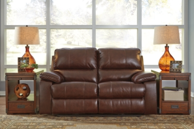 Reclining Loveseat Coffee Leather Power Product Photo 180
