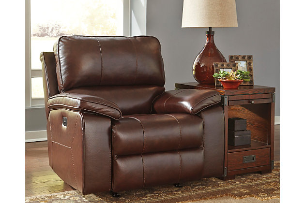 Transister Power Recliner by Ashley HomeStore, Brown, Lea...
