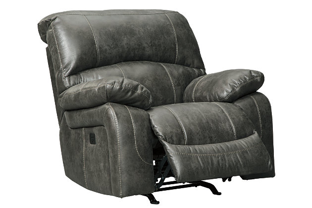 Dunwell Power Recliner, Steel, large