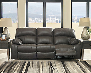 Dunwell Power Reclining Sofa, Steel, large