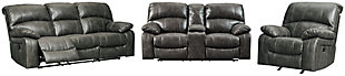 Dunwell Sofa, Loveseat and Recliner, Steel, large