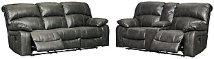 Dunwell Sofa and Loveseat, Steel, large