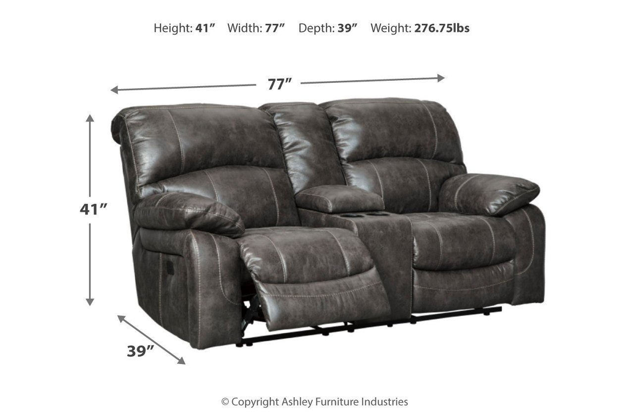 Dunwell Power Reclining Loveseat With Console Ashley Furniture Homestore