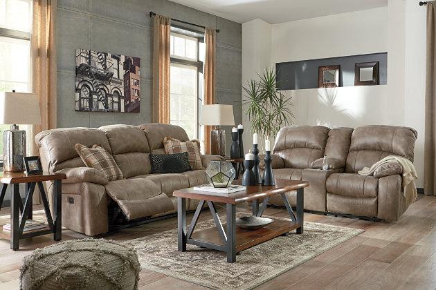 Dunwell Power Reclining Sofa, Driftwood, large