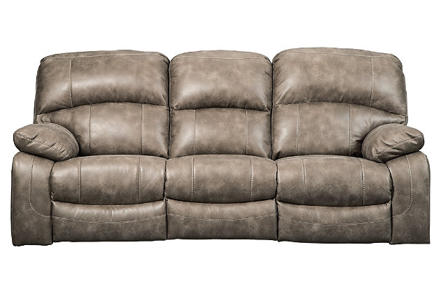 Dunwell Power Reclining Sofa, Driftwood, large