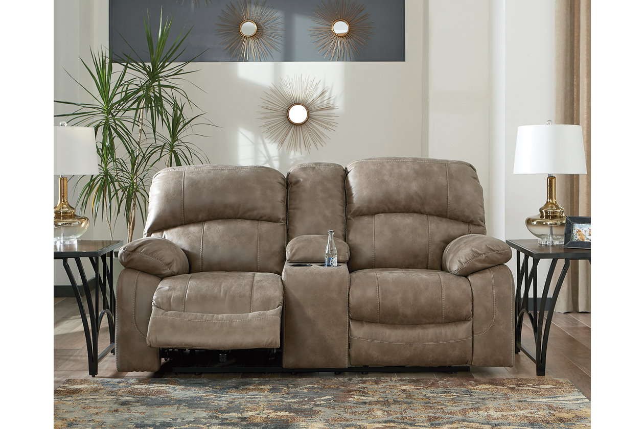 Fine Dunwell Power Reclining Loveseat With Console Ashley Short Links Chair Design For Home Short Linksinfo