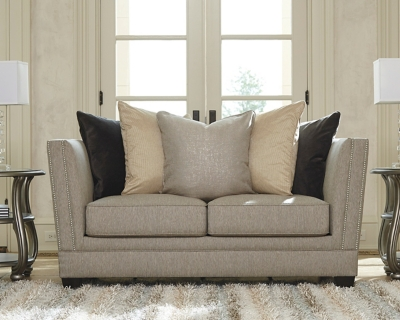 Check out the Linen Loveseat Product Photo