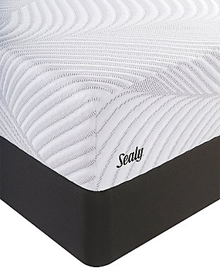 Sealy Optimistic Plush Full Mattress, White, rollover