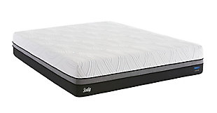 Sealy Gratifying Cushion Firm Queen Mattress, White/Gray, large