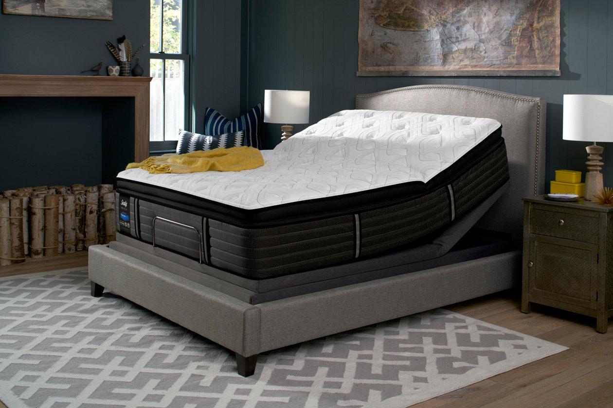 sealy grand mesa cushion firm pillowtop queen mattress ashley