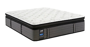 Sealy Grand Mesa Plush Euro Pillow Top Twin Mattress, White/Gray, large