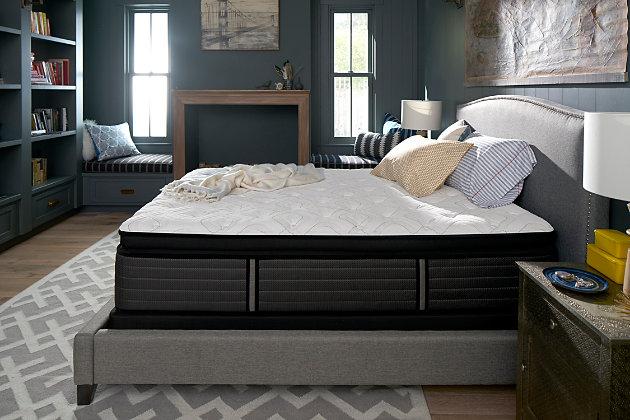 Sealy Grand Mesa Plush Euro Pillow Top Twin Mattress, White/Gray, large