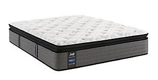 Sealy Blue Mesa Cushion Firm Pillowtop Twin Mattress, White/Gray, large