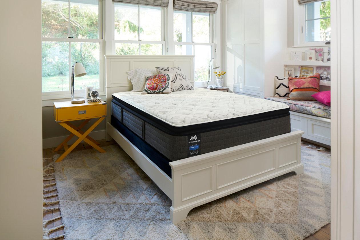 sealy blue mesa cushion firm pillowtop queen mattress ashley