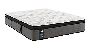 Sealy Blue Mesa Plush Pillowtop Queen Mattress, White/Gray, large
