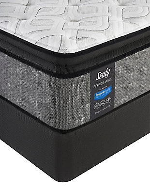 Sealy Blue Mesa Plush Pillowtop Queen Mattress, White/Gray, rollover