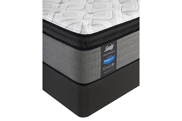 Sealy Blue Mesa Plush Pillowtop King Mattress, White/Gray, large