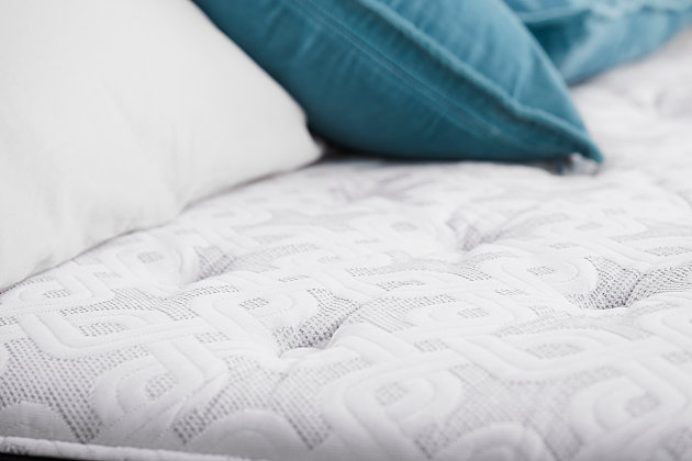 Sealy Hidden Lake Plush Tight Top Twin Mattress, White/Gray, large