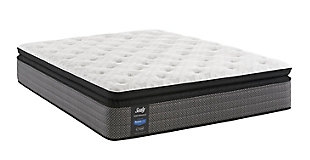 Sealy Hidden Lake Cushion Firm Pillowtop Queen Mattress, White/Gray, large