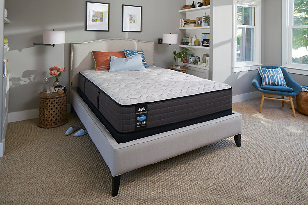 Sealy Blue Mesa Firm Tight Top Queen Mattress, White/Gray, large