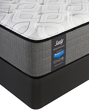 Sealy Blue Mesa Cushion Firm Tight Top Queen Mattress, White/Gray, rollover