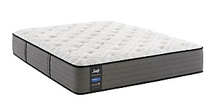 Sealy Blue Mesa Plush Tight Top Queen Mattress, White/Gray, large