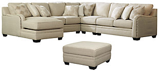 Luxora 5-Piece Sectional with Ottoman, , large