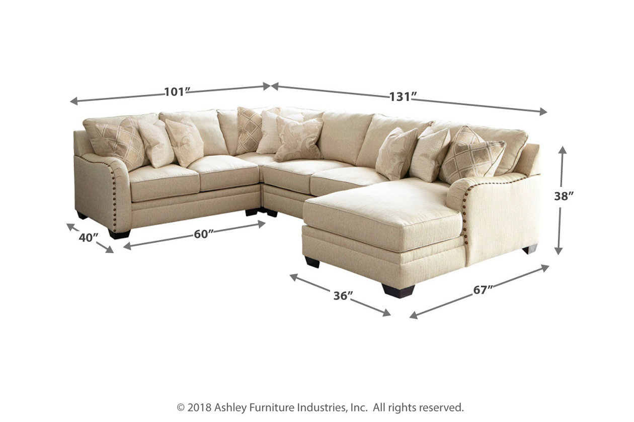 Luxora 4 Piece Sectional With Chaise