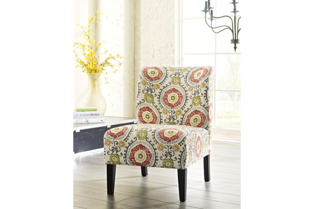 Floral Honnally Accent Chair by Ashley HomeStore, Rayon