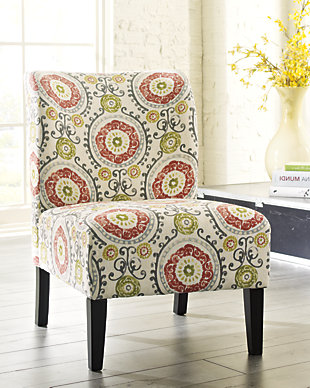 Honnally Accent Chair, Floral, rollover