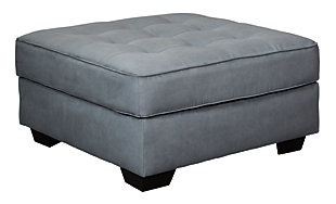 Filone Oversized Accent Ottoman, Steel, large