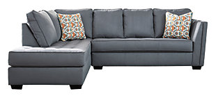 Filone 2-Piece Sectional with Chaise, Steel, large