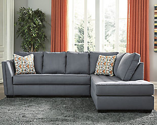 Filone 2-Piece Sectional with Chaise, Steel, rollover