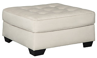 Filone Oversized Accent Ottoman, Ivory, large