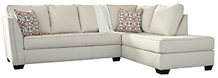Filone 2-Piece Sectional with Chaise, Ivory, large