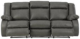 Denoron Power Reclining Sofa, Gray, large