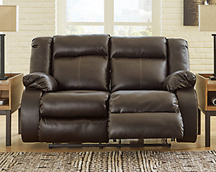 Denoron Power Reclining Loveseat, Chocolate, rollover