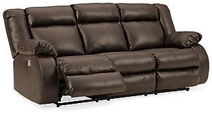 Denoron Power Reclining Sofa, Chocolate, large