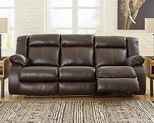 Denoron Power Reclining Sofa, Chocolate, rollover