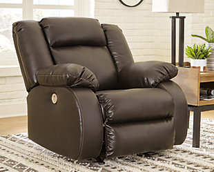 Denoron Power Recliner, Chocolate, rollover