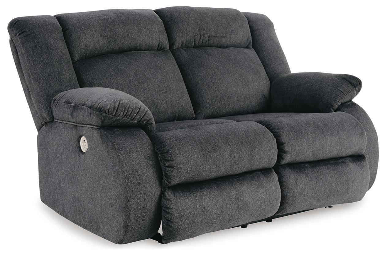 Burkner Power Reclining Loveseat Ashley Furniture Homestore