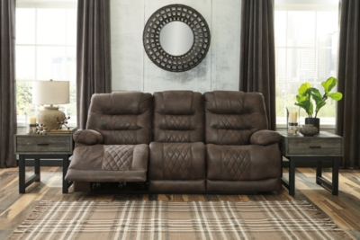Reclining Sofa Walnut Power Product Photo 309