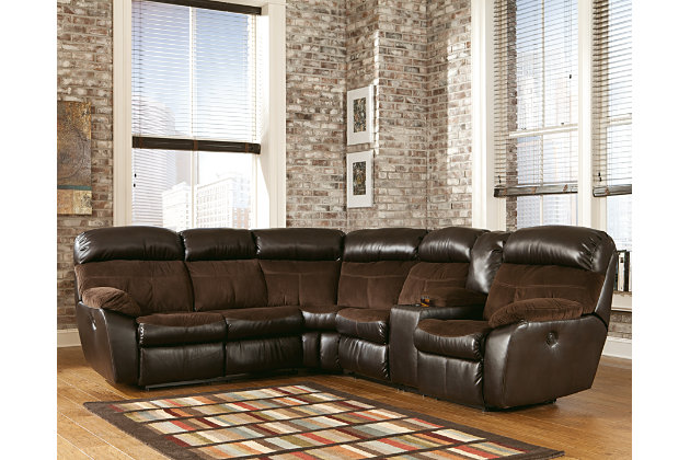 Berneen 2-Piece Sectional Non-Power by Ashley HomeStore, Brown, Polyester (100 %)
