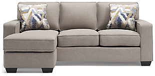 Greaves Sofa Chaise, Stone, large