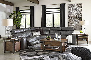 Samperstone 5-Piece Reclining Sectional with Power, , large