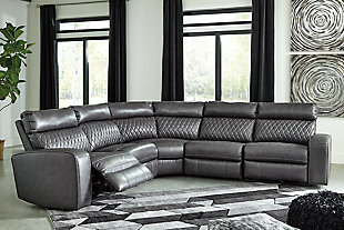 Samperstone 5-Piece Power Reclining Sectional, , rollover
