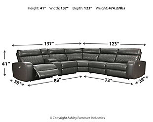 Samperstone 6-Piece Power Reclining Sectional, , large